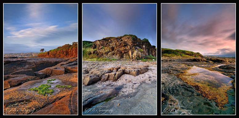Gerroa Sunset Triptych
